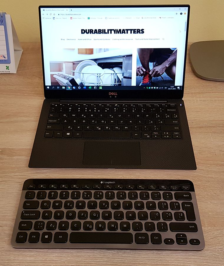 Logitech K810 used with a laptop