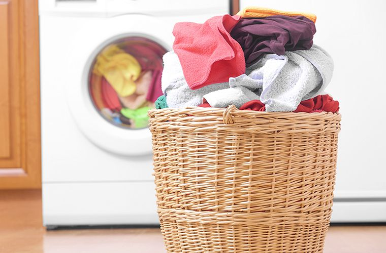 a basket full of laundry