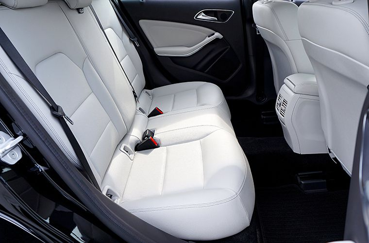 white leather car seats in the back