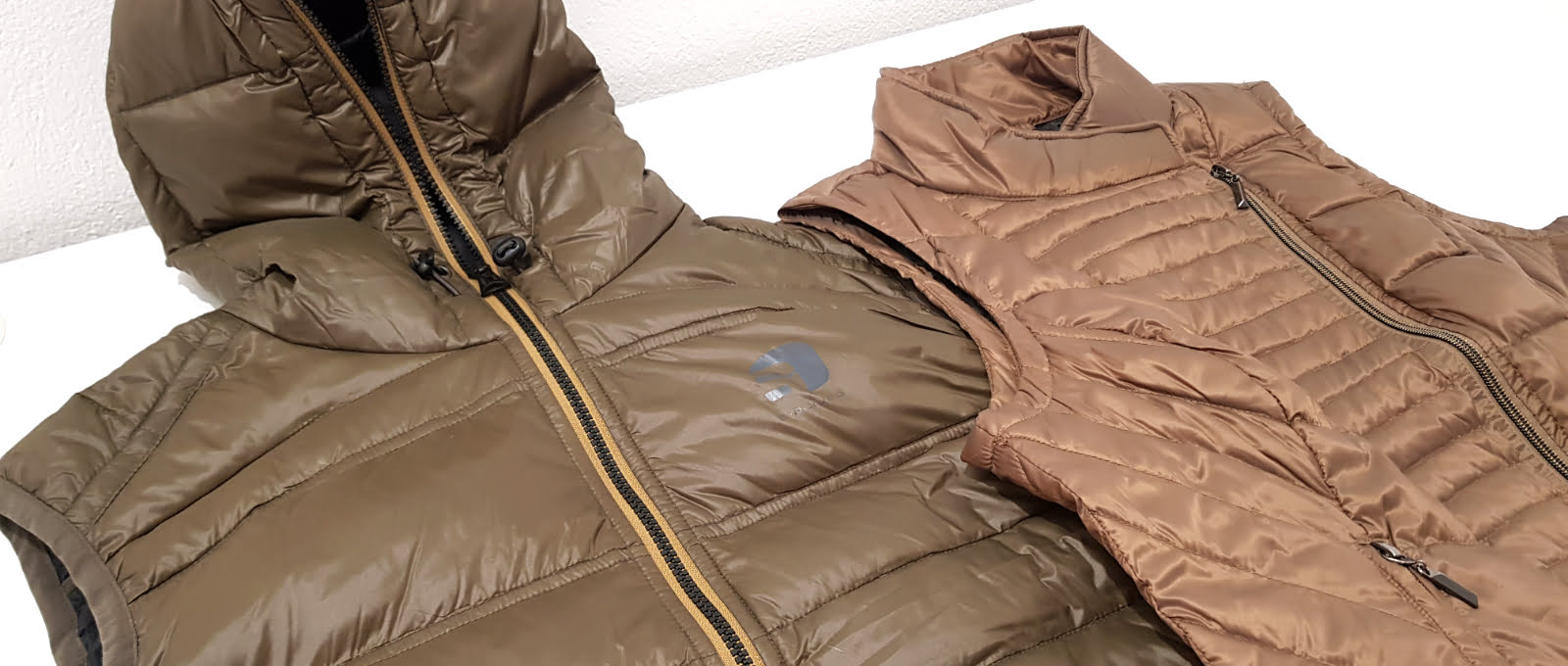 two heated vests - men's and women's