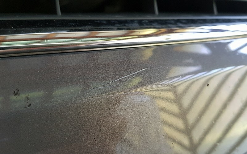 paint emabedded scratch on ford kuga 2