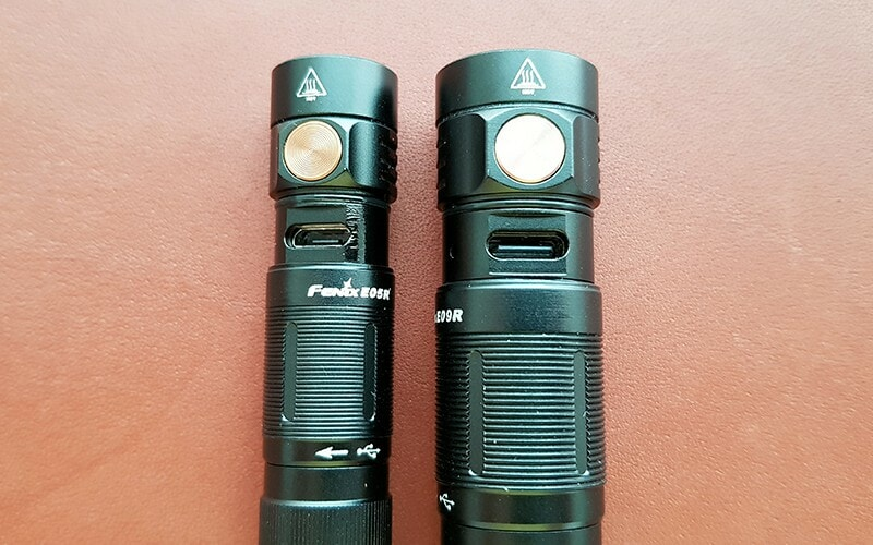 Fenix E05R and E09R - side by side 2