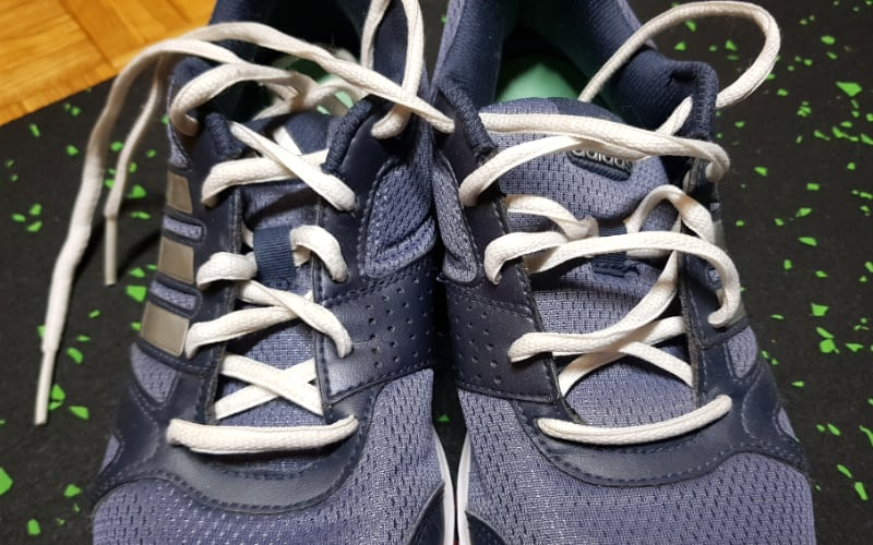 shoes with white shoelaces