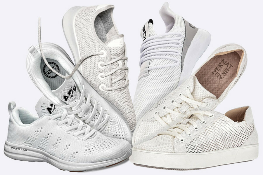 white mesh shoes - feature image